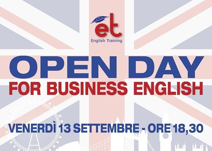 Conoscere il mio livello di inglese con l'Open Day du English Training